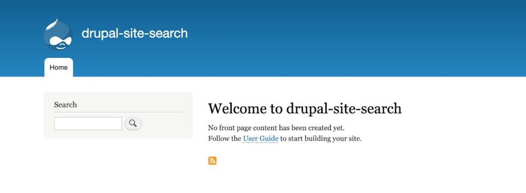 Drupal and SOLR 8 site search home page